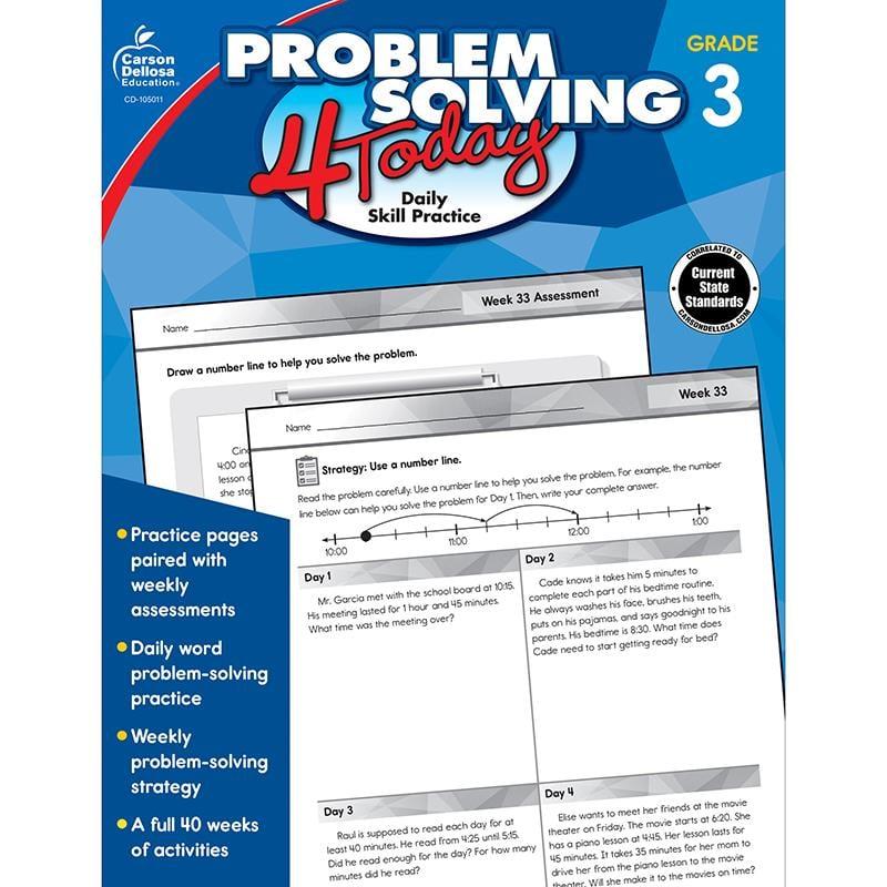 Problem Solving 4 Today Grade 3 Workbook