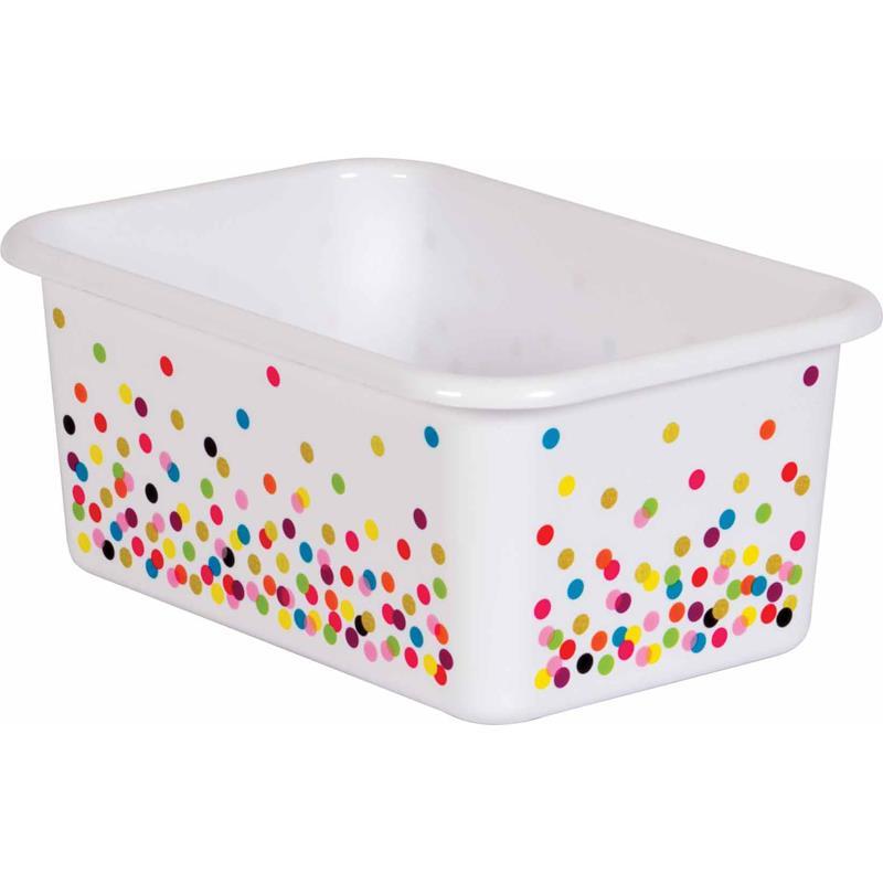 (6 Ea) Confetti Small Plastic Storage Bin