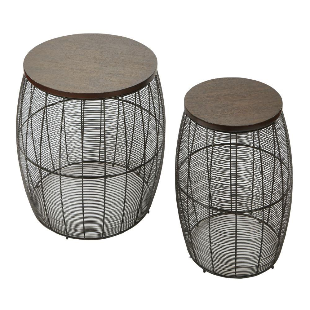 - Camden 2-Piece Round Metal Accent Tables - Affordable Office Furniture And  Supplies