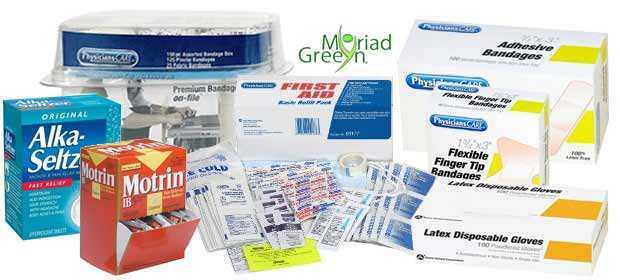 Medical Kit Refills, Products & Supplies - Green Wholesale First Aid
