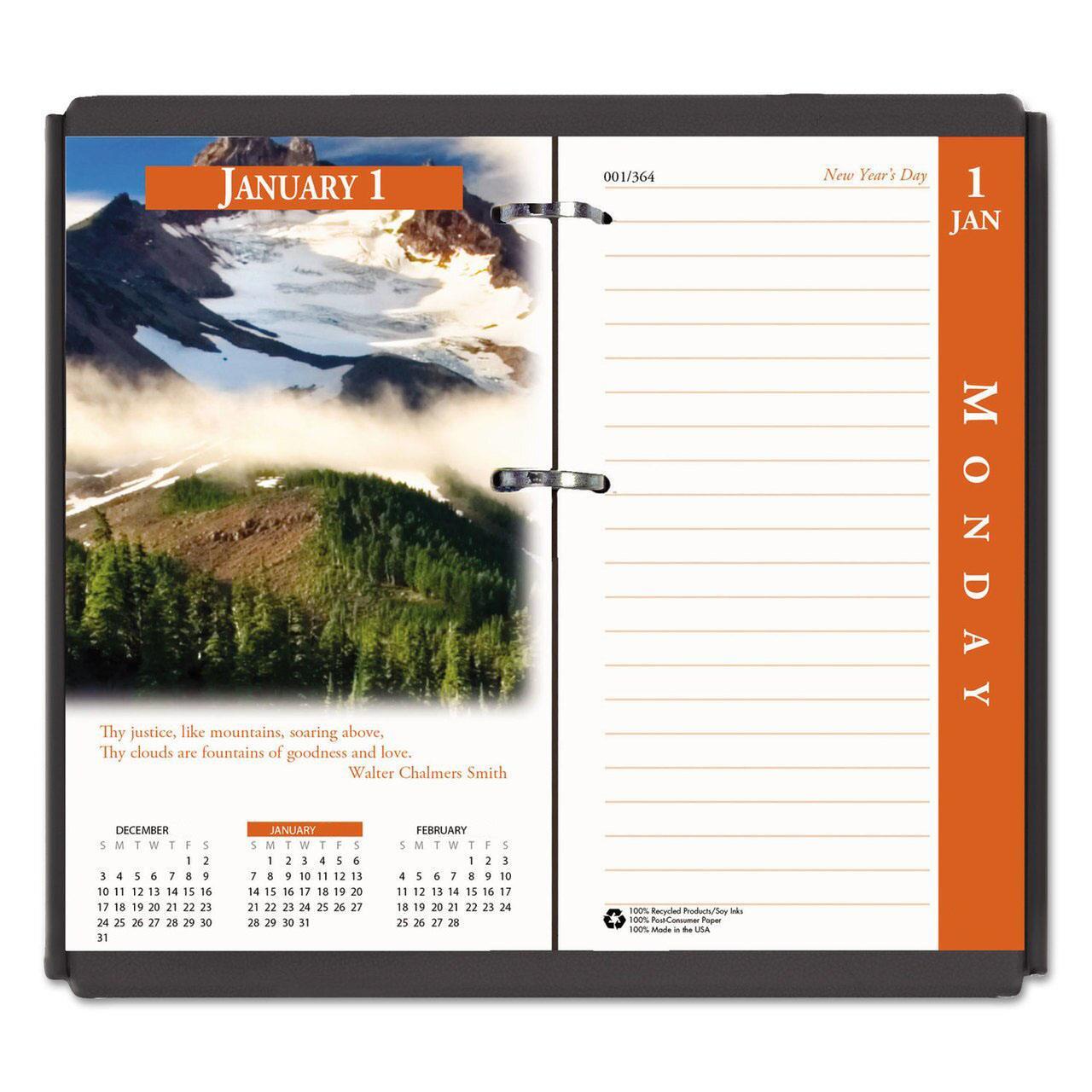 Calendar Refills 2020 Bulk 2020 Desk Calendar Refills, Images, Recycled: HOD417 (9 Desk