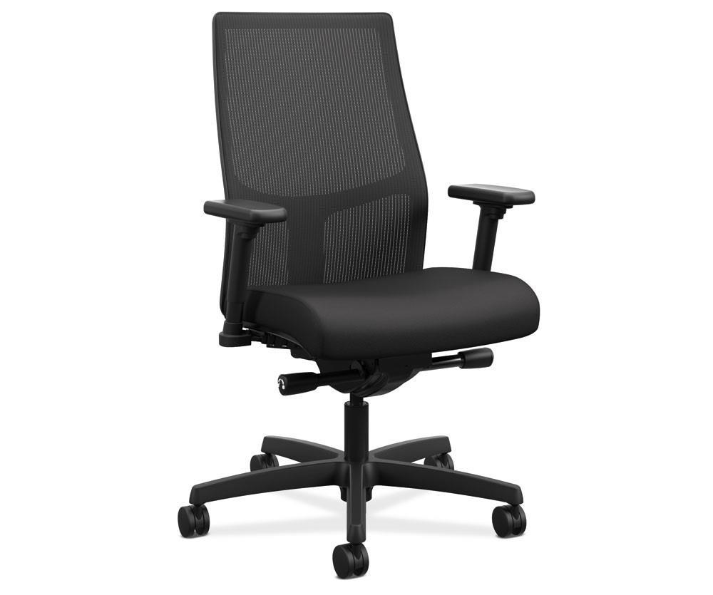 Hon Ignition 2 0 Mid Back Task Chair Black Fabric With