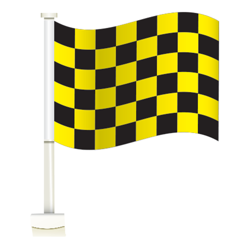 Astounding Yellow Black Checkered Thrifty Clip On Flags Bralicious Painted Fabric Chair Ideas Braliciousco