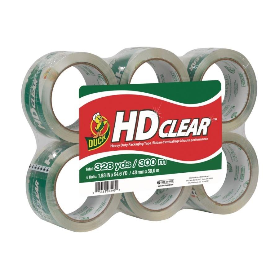 Duck® HD Clear™ Heavy-Duty Packaging Tape, 3