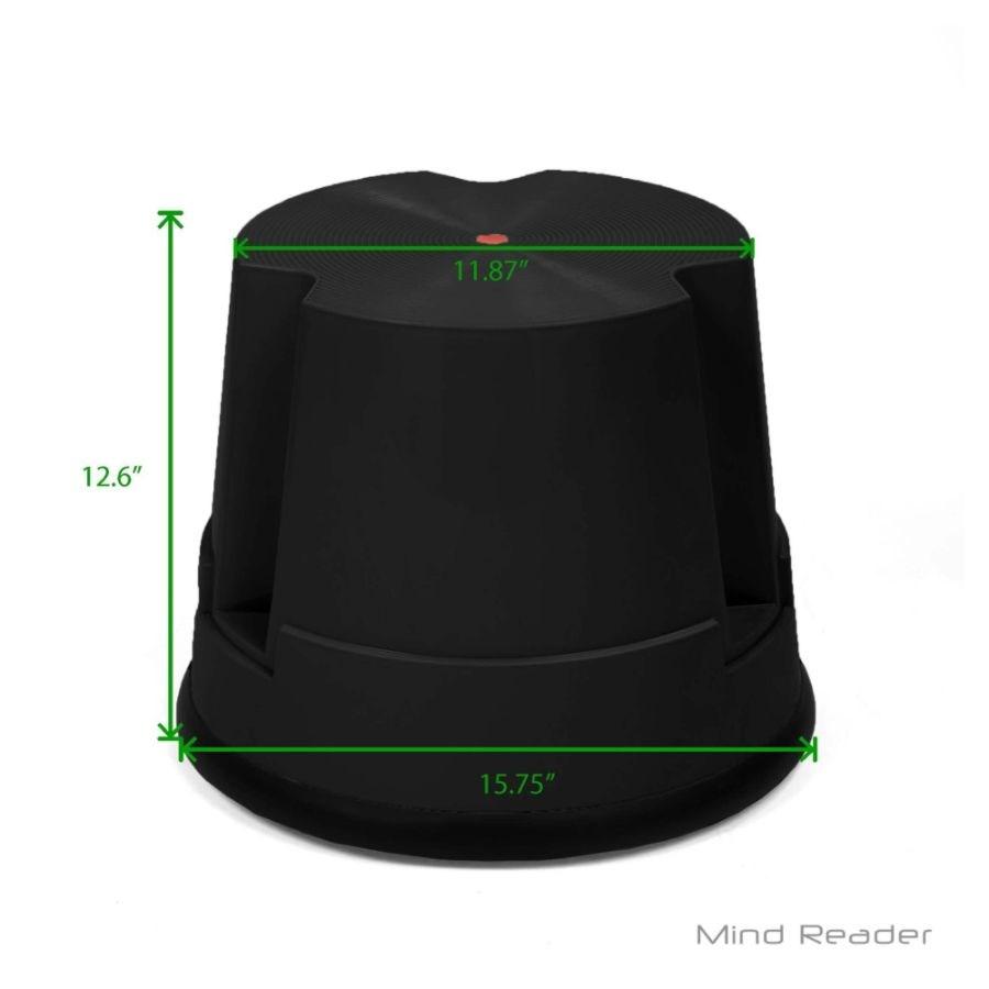 Enjoyable Mind Reader Rolling Step Stool 1 Step 300 Lb Capacity Black Machost Co Dining Chair Design Ideas Machostcouk